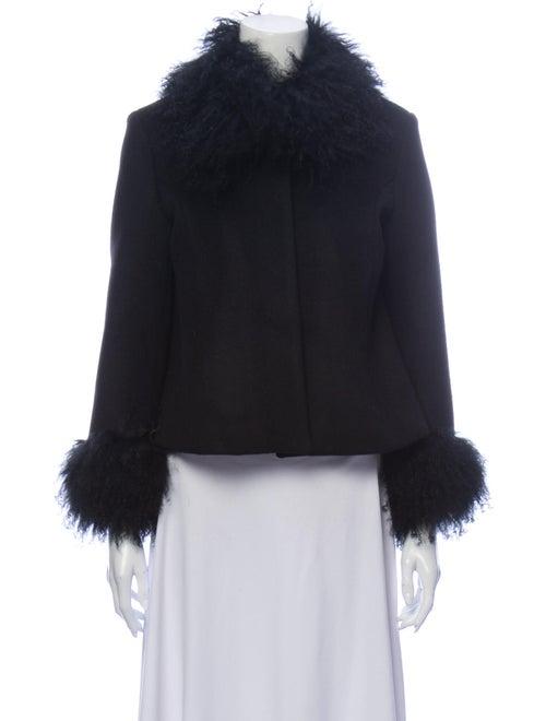 Saks Potts Wool Fur Jacket Wool