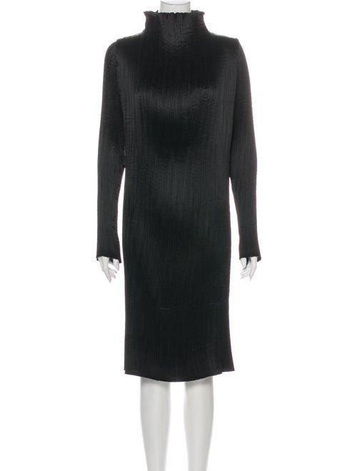 Saks Potts Turtleneck Midi Length Dress Black