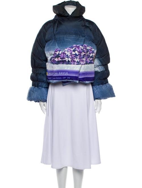 Saks Potts Printed Coat w/ Tags Purple