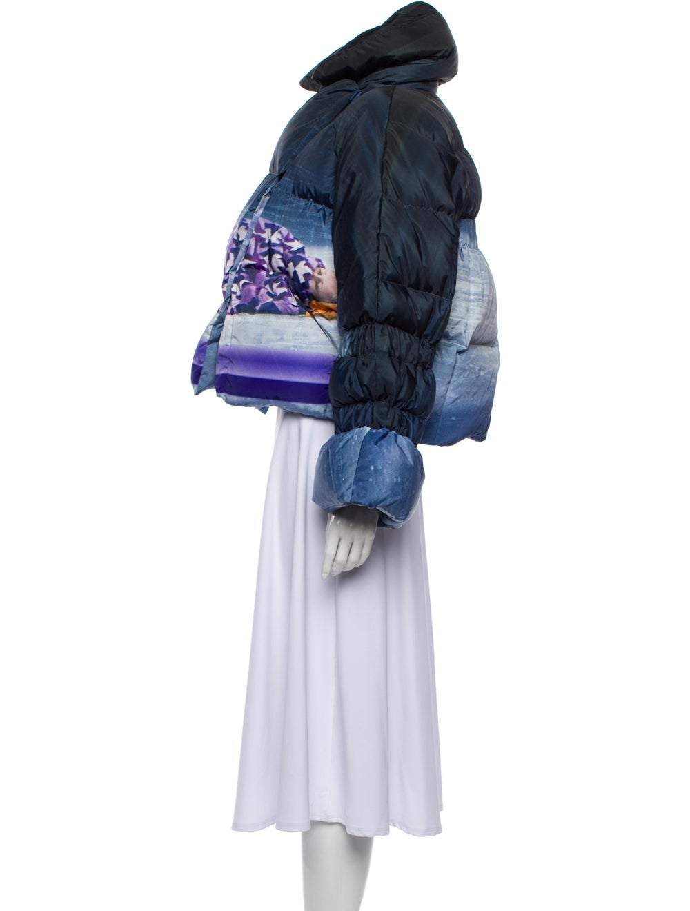 Saks Potts Printed Coat w/ Tags Purple - image 2