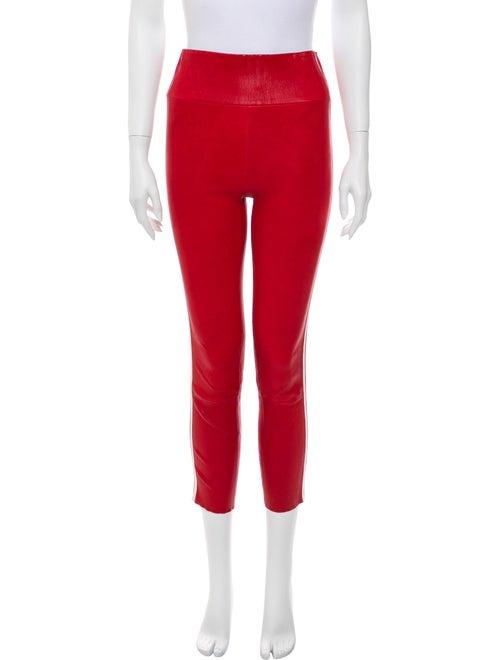 Sprwmn Leather Skinny Leg Pants Red