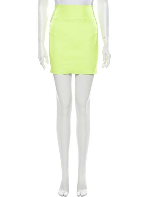 Sprwmn Leather Mini Skirt Yellow