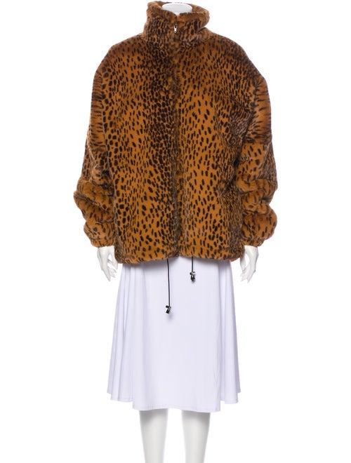 Sprwmn Animal Print Coat Brown