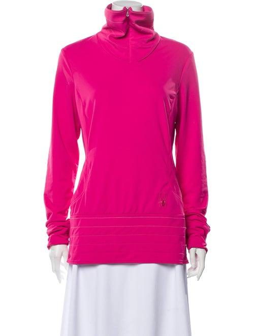Spyder Turtleneck Long Sleeve Sweatshirt Pink