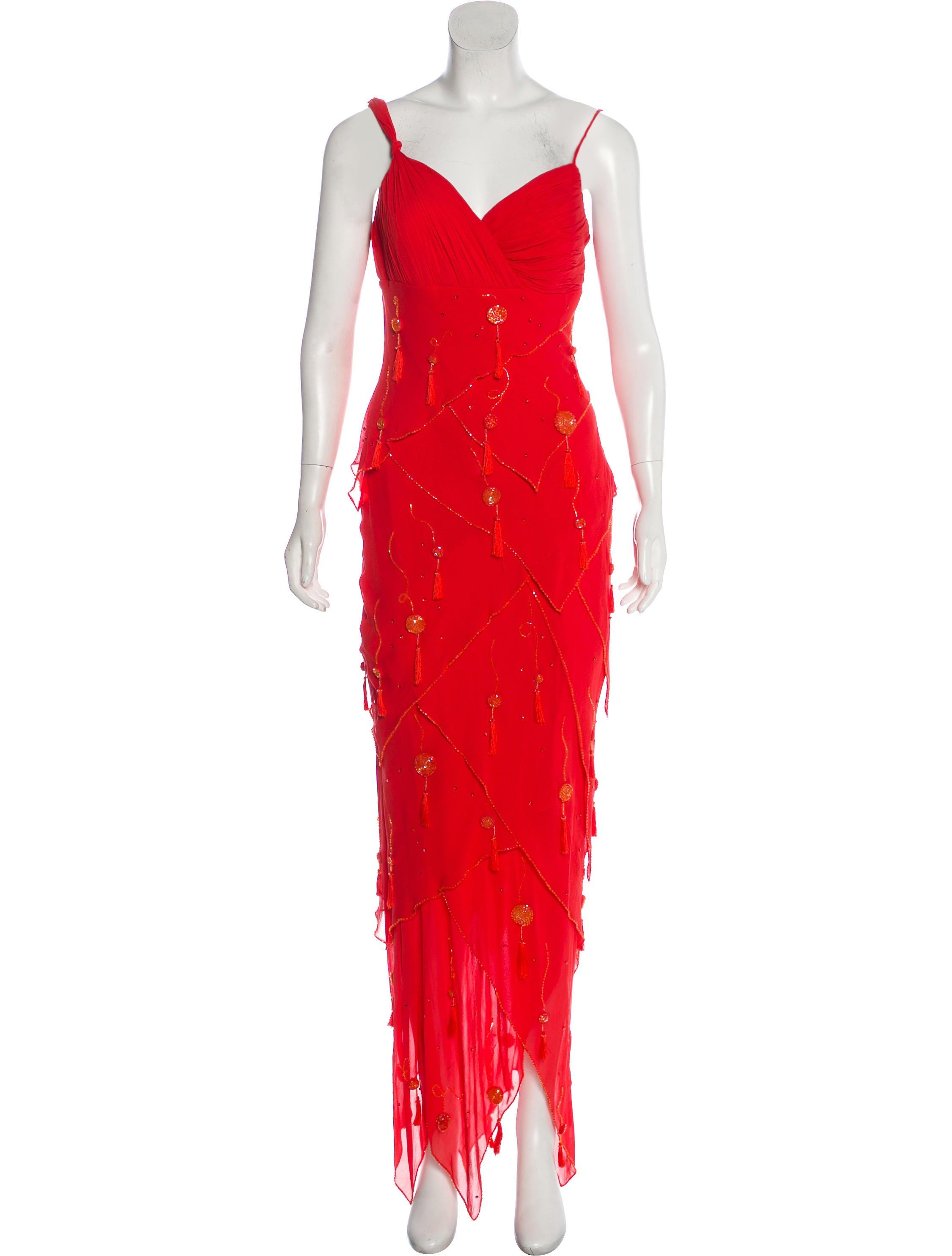Sue Wong Silk Evening Dress - Clothing - WSQ20168   The RealReal