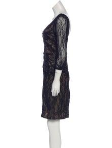 a733b3a5a7f39 Sue Wong. Embellished Lace Mini Dress