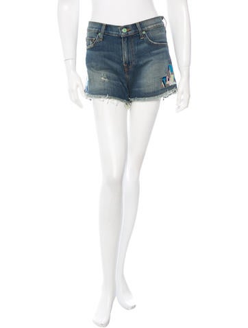 Sandrine Rose Distressed Embroidered Shorts w/ Tags None