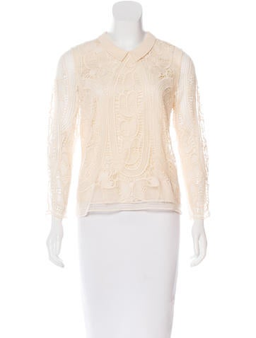 Sea Collared Lace Top
