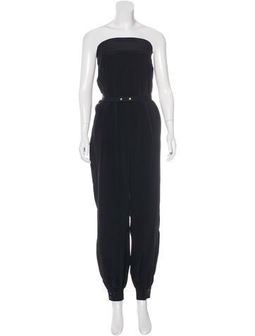 Sea Silk Strapless Jumpsuit