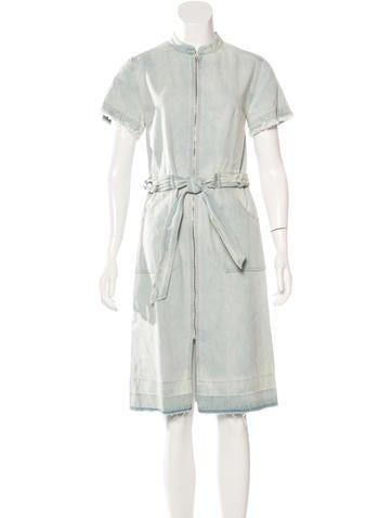 Sea Distressed Denim Dress w/ Tags None