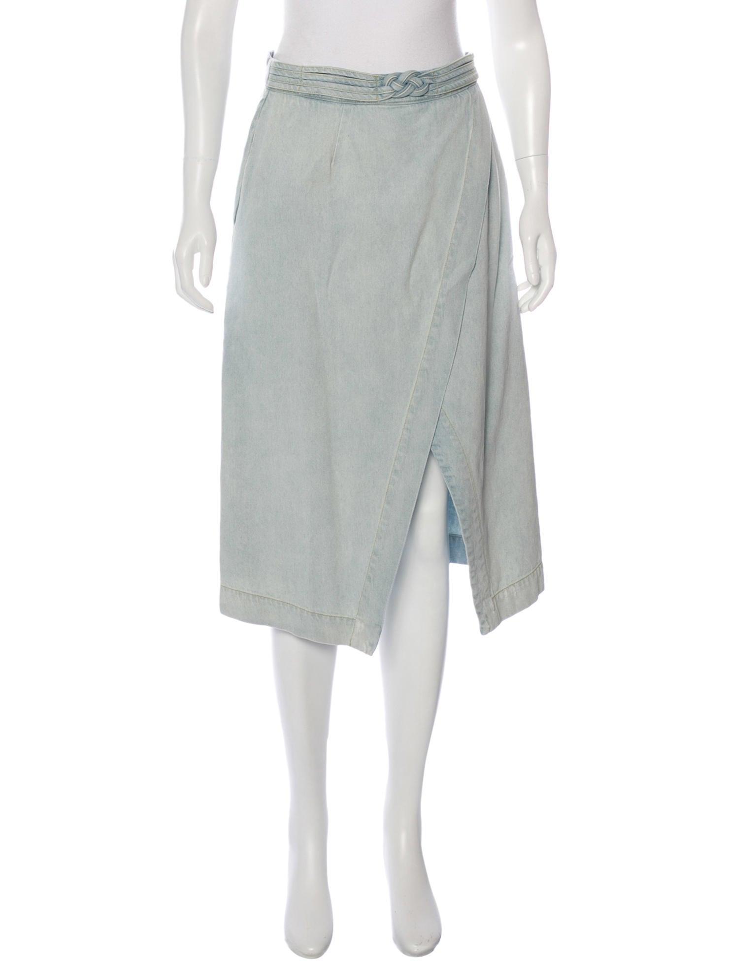 sea denim knee length skirt clothing wssea22550 the