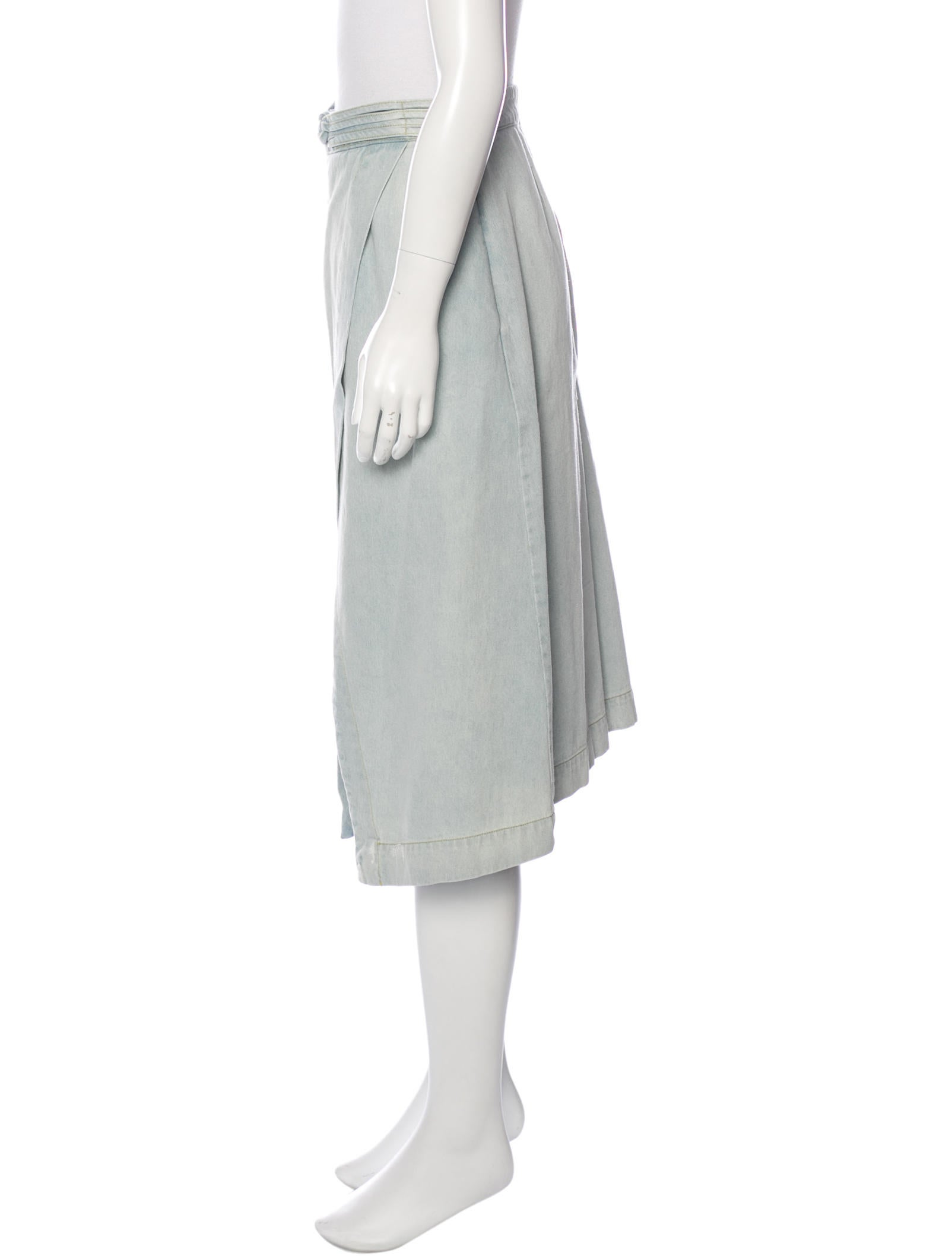 sea denim knee length skirt clothing wssea22550 the