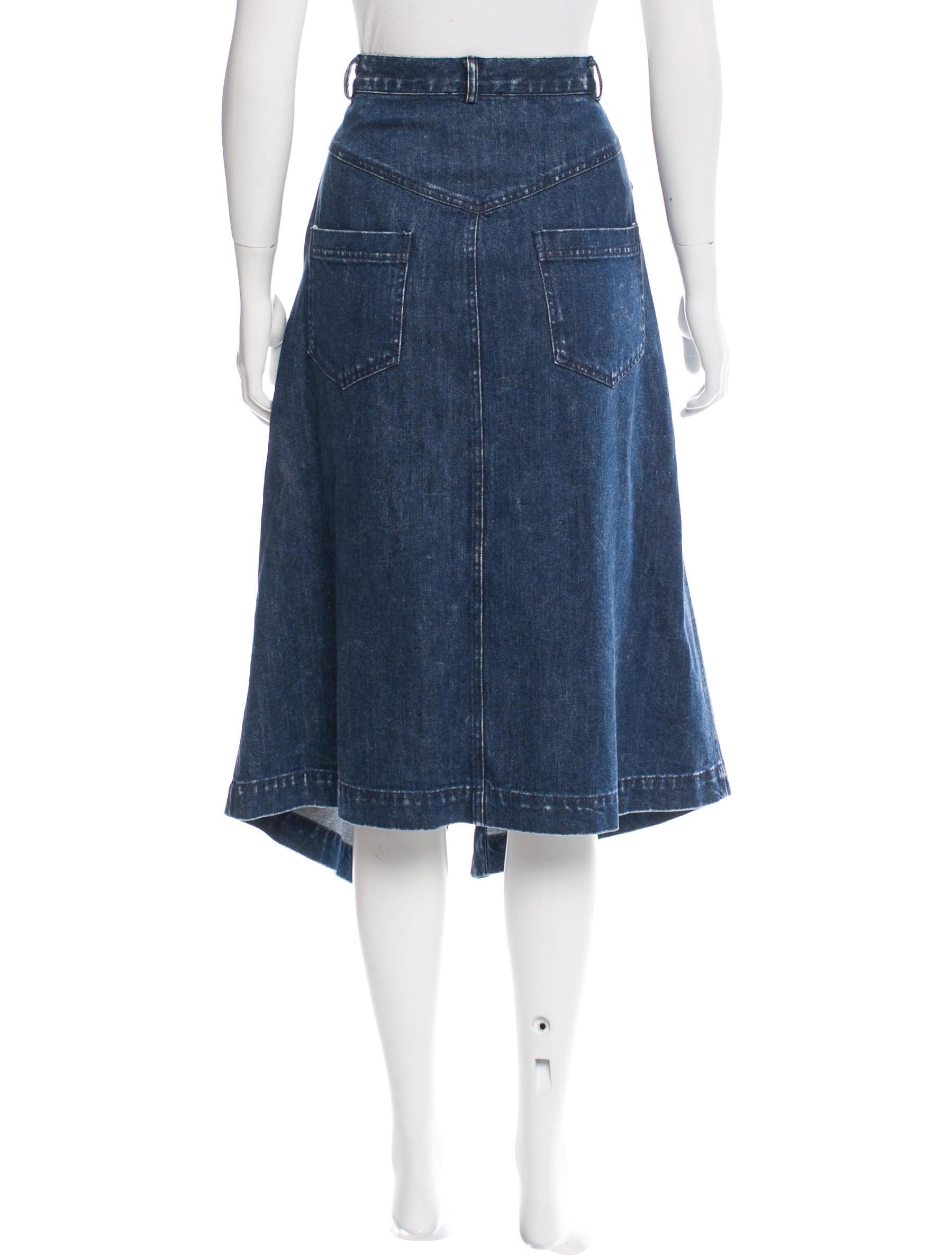 sea denim midi skirt w tags clothing wssea22767 the