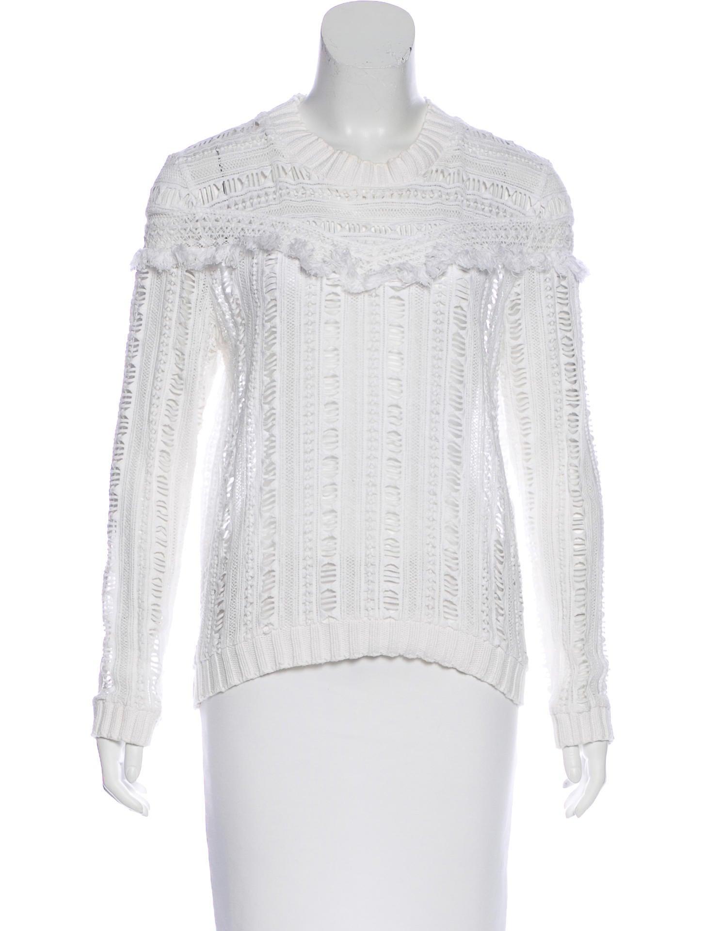 Sea Long Sleeve Open Knit Sweater - Clothing - WSSEA23622   The ...