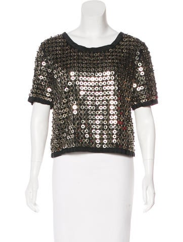 Sea Embellished Cropped Top None