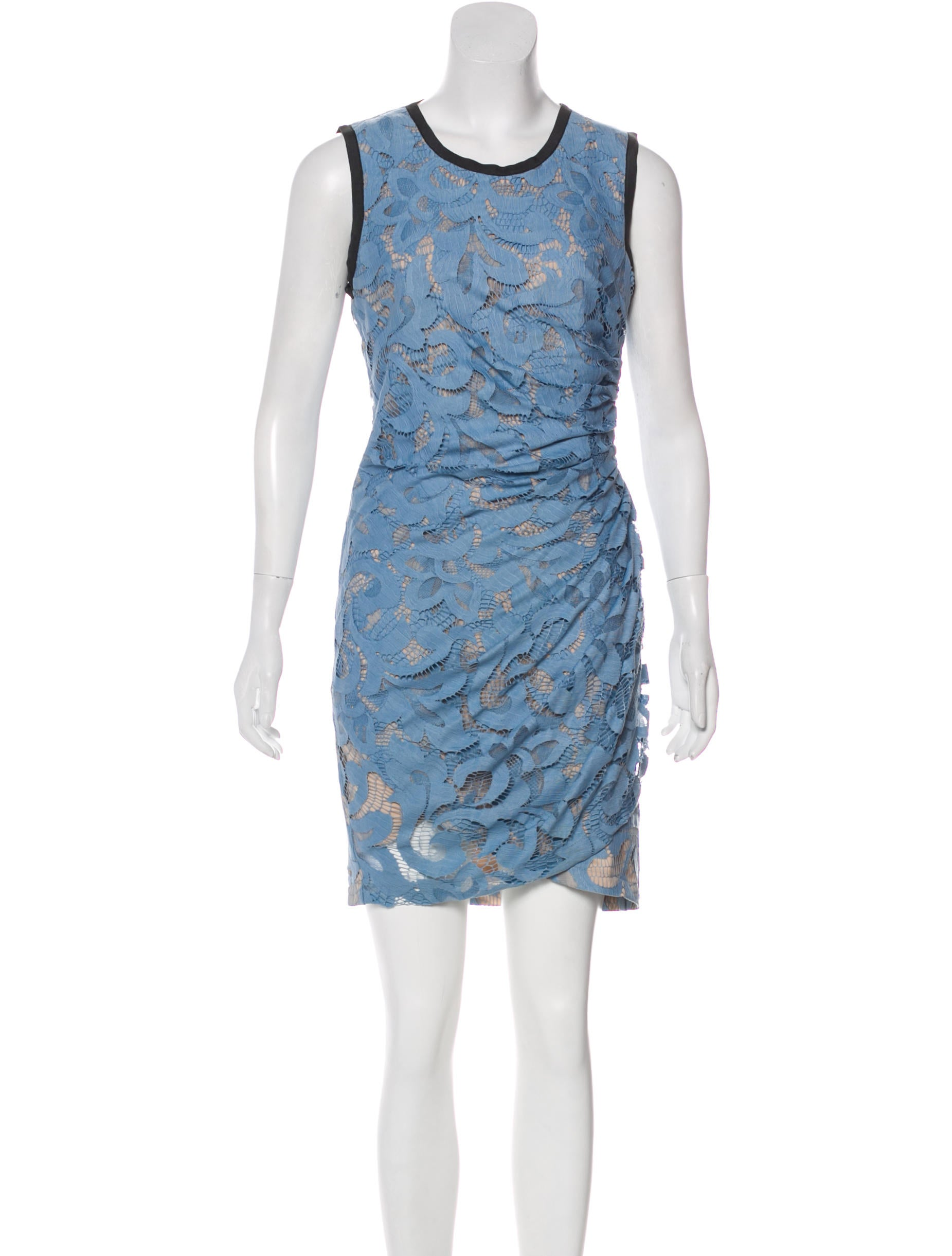 Sea Sleeveless Lace Dress