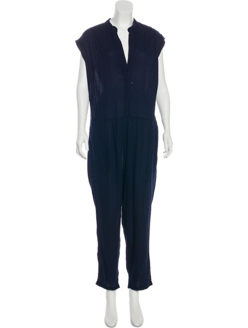 Sea Short Sleeve Straight-Leg Jumpsuit Navy