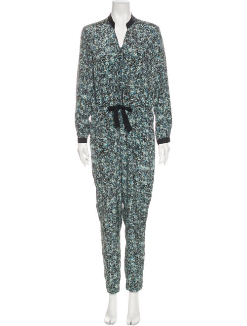 Sea New York Silk Floral Print Jumpsuit