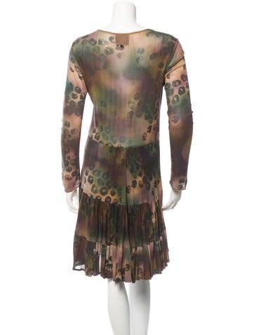 Leopard Print Gathered Dress