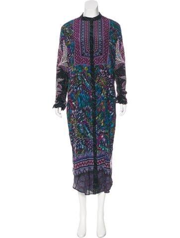 Silk Midi Dress w/ Tags