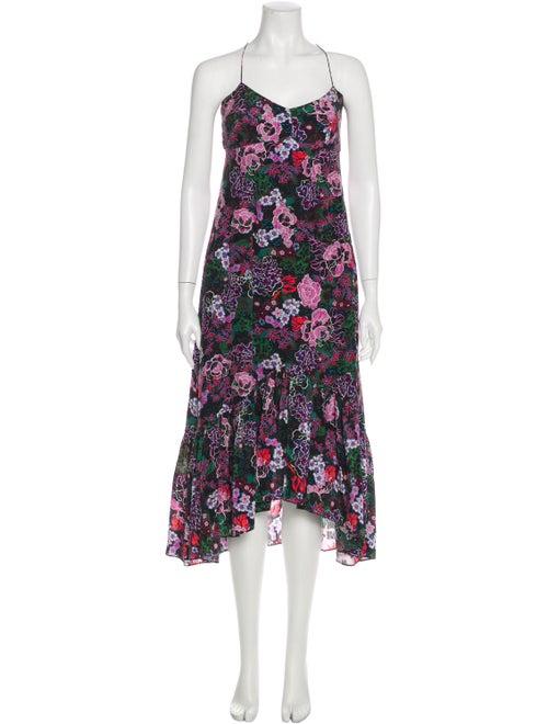 Saloni Silk Long Dress