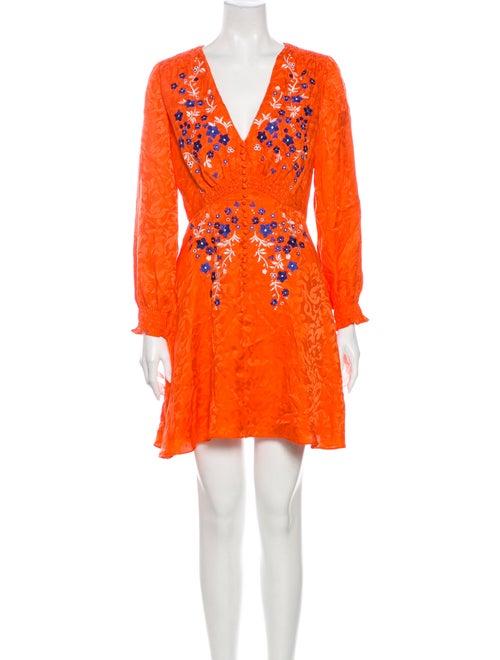 Saloni Silk Mini Dress Orange