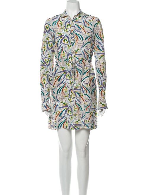 Saloni Silk Mini Dress White