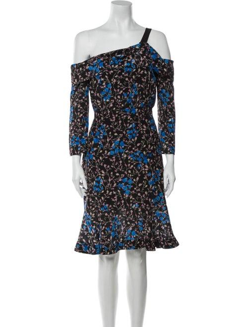 Saloni Silk Mini Dress Black