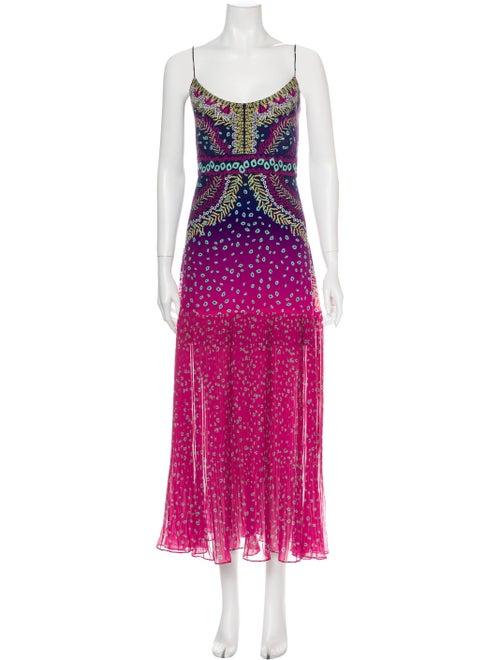 Saloni Silk Mini Dress Pink