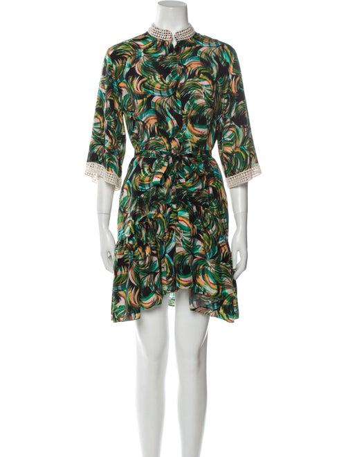 Saloni Silk Mini Dress Green