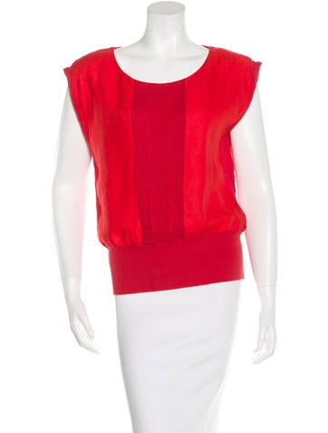 Steven Alan Cable Knit-Trimmed Sleeveless Top None