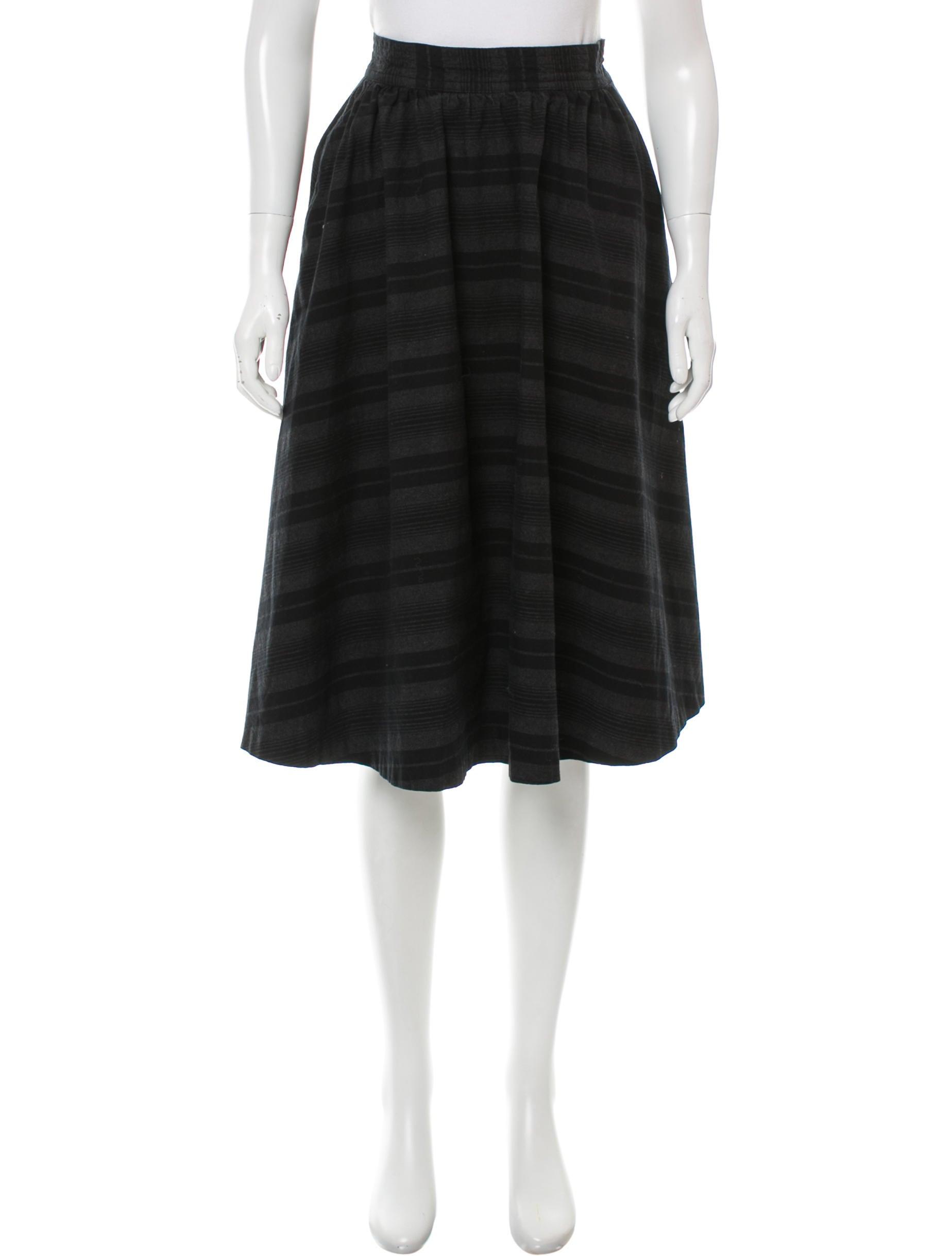 steven alan striped a line skirt clothing wstev21719