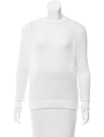 Steven Alan Open Knit Long Sleeve Sweater None