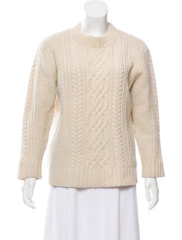 Steven Alan Wool Cable-Knit Sweater None