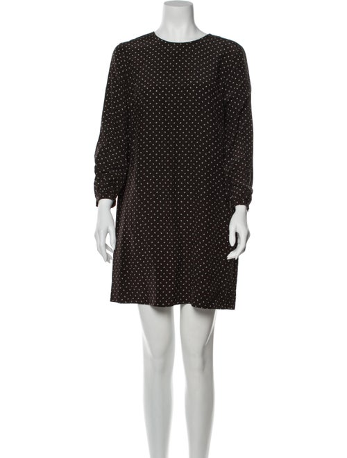 Steven Alan Silk Mini Dress Brown