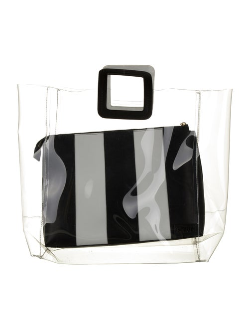 Staud Large Shirley PVC Tote Clear