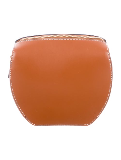 Staud Smooth Leather Clutch Brown