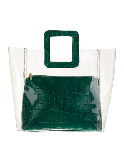 Staud PVC Shirley Bag w/ Tags Clear
