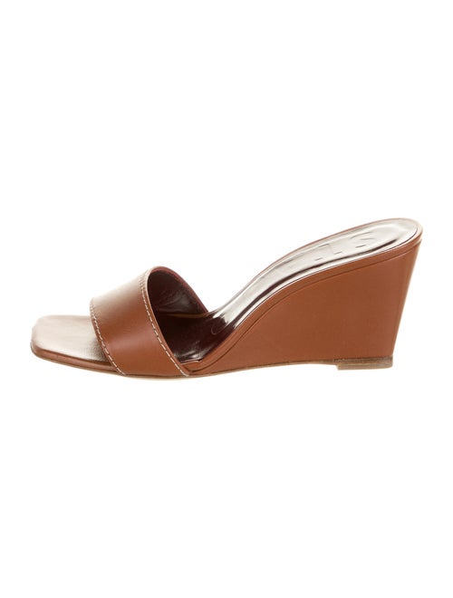 Staud Leather Slides Brown
