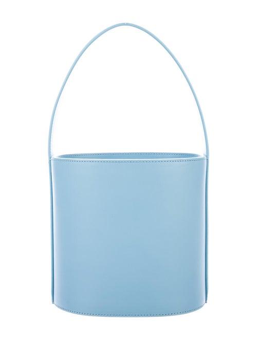 Staud Bissett Leather Bucket Bag Blue