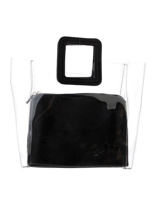 Staud PVC Shirley Bag Black