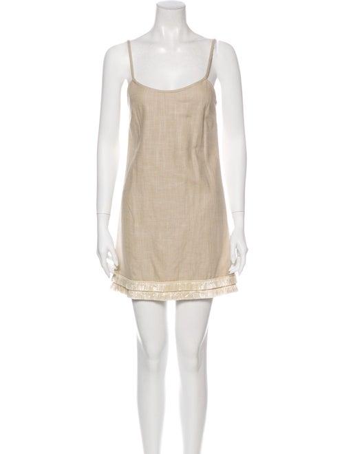 Staud Square Neckline Mini Dress