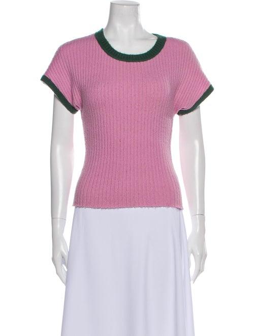 Staud Scoop Neck Sweater Pink