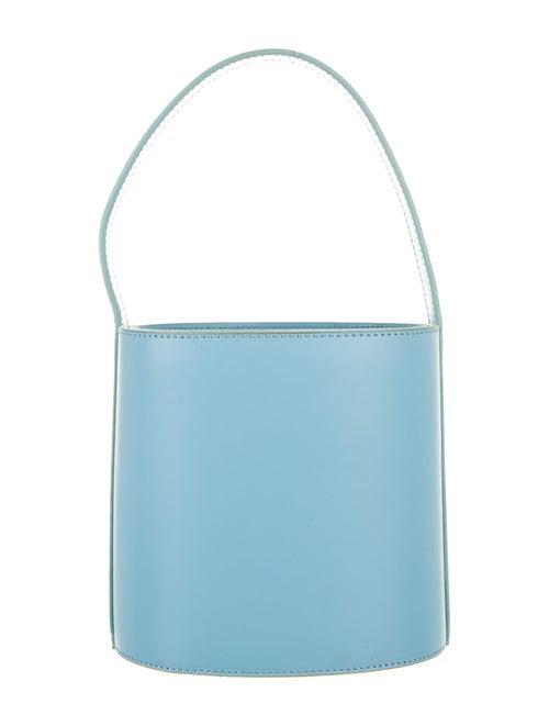 Staud Leather Bucket Bag Blue