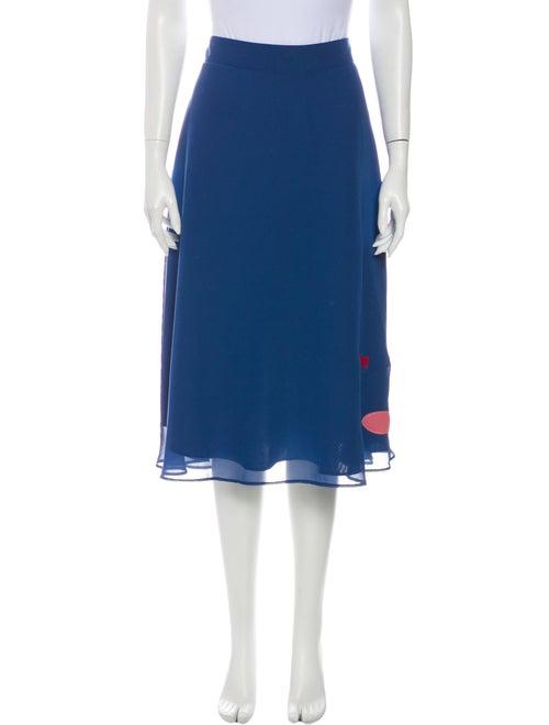 Staud Midi Length Skirt Blue