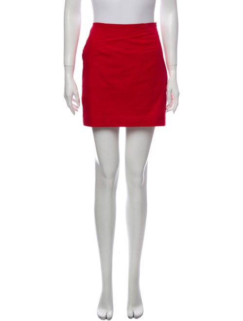 Staud Mini Skirt Red