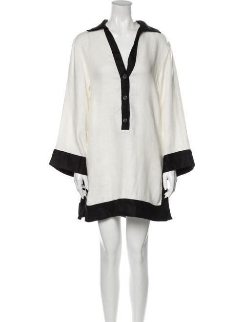 Staud Linen Mini Dress White