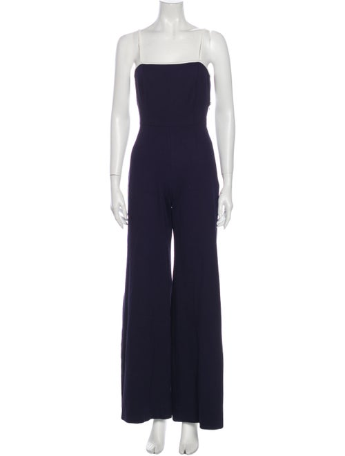 Staud Strapless Jumpsuit Blue