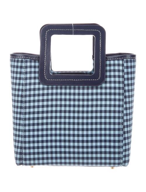 Staud Canvas Top Handle Bag Blue