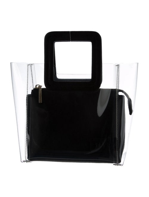 Staud Vinyl Handle Bag Clear